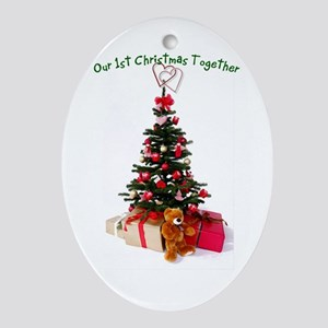 Our 1st Christmas Together Oval Ornament