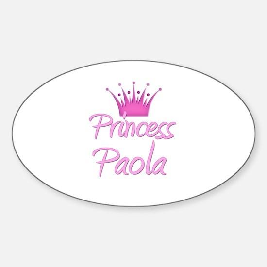 Princess Paola Oval Decal