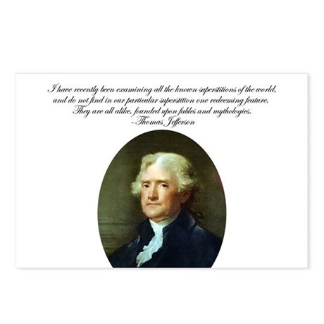 Thomas Jefferson Quote Postcards (Pack. of 8)