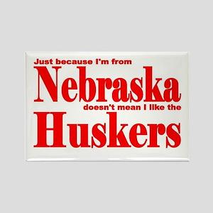 Nebraska Huskers Rectangle Magnet