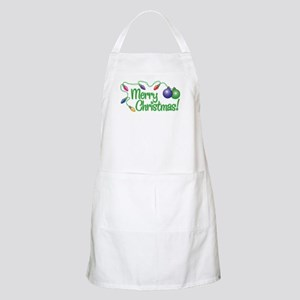 MERRY CHRISTMAS! (Lights) BBQ Apron