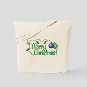 MERRY CHRISTMAS! (Lights) Tote Bag