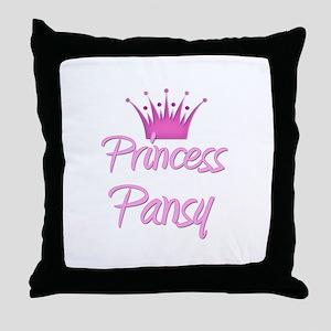 Princess Pansy Throw Pillow