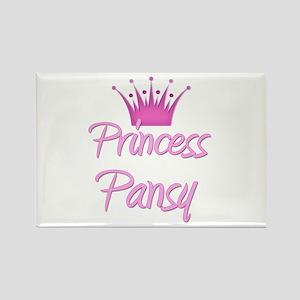 Princess Pansy Rectangle Magnet