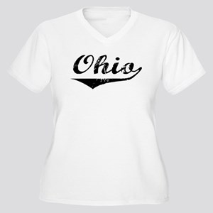 Ohio Women's Plus Size V-Neck T-Shirt