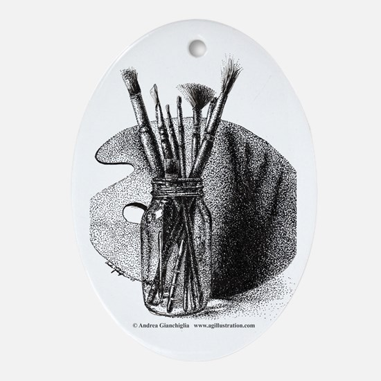 Artsy Oval Ornament