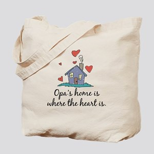 Opa's Home is Where the Heart Is Tote Bag