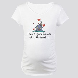 Oma & Opa's Home is Where the Heart Is Maternity T