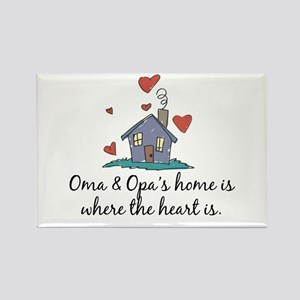 Oma & Opa's Home is Where the Heart Is Rectangle M