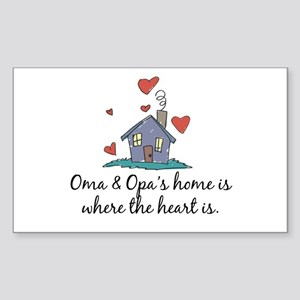 Oma & Opa's Home is Where the Heart Is Sticker (Re
