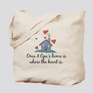 Oma & Opa's Home is Where the Heart Is Tote Bag