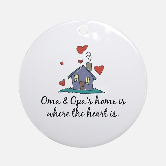 Oma & Opa's Home is Where the Heart Is Ornament (R