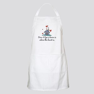 Oma & Opa's Home is Where the Heart Is BBQ Apron