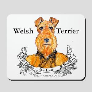 Welsh Terrier Motto Mousepad
