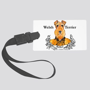 Welsh Terrier Motto Luggage Tag