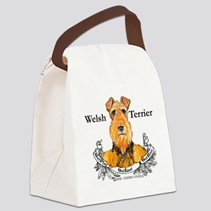 Welsh Terrier Motto Canvas Lunch Bag