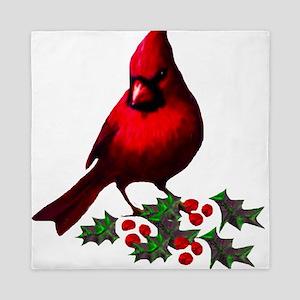 Christmas Cardinal Queen Duvet