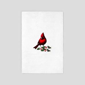 Christmas Cardinal 4' x 6' Rug