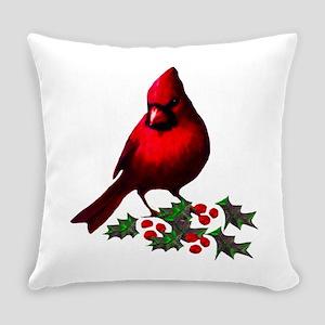 Christmas Cardinal Everyday Pillow