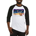 XmasSunrise/2 Vizslas Baseball Jersey