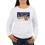 XmasSunrise/2 Vizslas Women's Long Sleeve T-Shirt