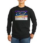 XmasSunrise/2 Westies Long Sleeve Dark T-Shirt