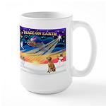 XmasSunrise/ Vizsla #1 Large Mug