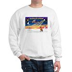 XmasSunrise/ Vizsla #1 Sweatshirt