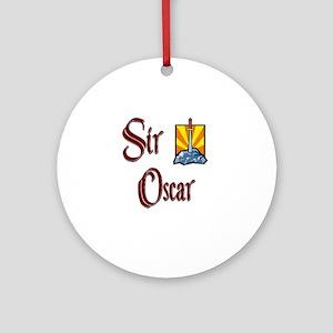 Sir Oscar Ornament (Round)