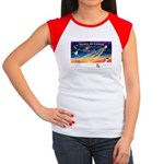 XmasSunrise/Corgi Pup Women's Cap Sleeve T-Shirt
