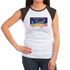XmasSunrise/Westie #10 Women's Cap Sleeve T-Shirt
