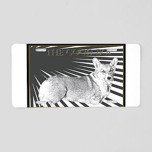 The Good Boi Corgi Aluminum License Plate