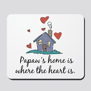 Papaw's Home is Where the Heart Is Mousepad