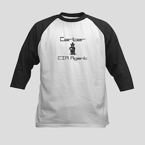 Carter - CIA Agent Kids Baseball Jersey