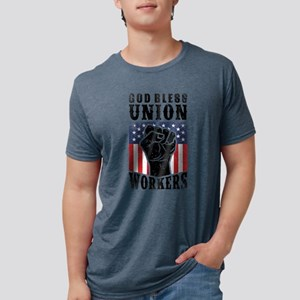 God Bless Union Workers Pro Union Worker P T-Shirt