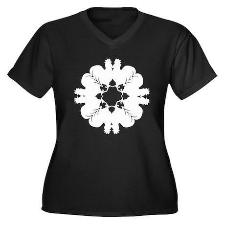 Peppy Rooster Women's Plus Size V-Neck Dark T-Shir