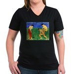 Game of Bowls Women's V-Neck Dark T-Shirt