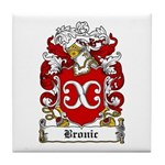 Bronic Family Crest Tile Coaster