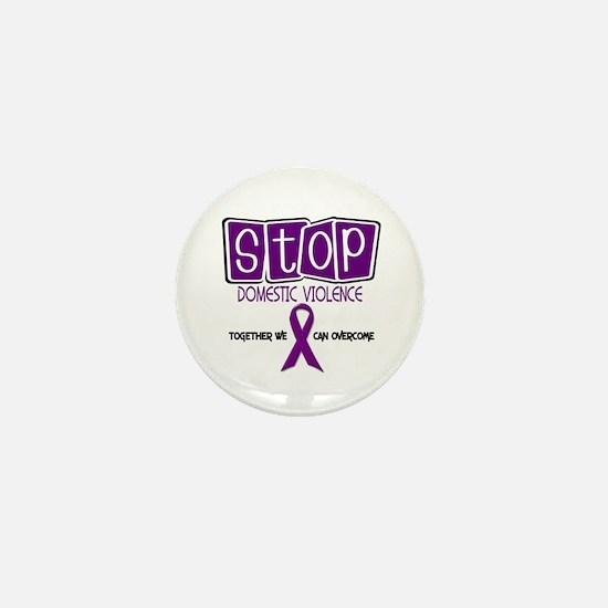 Stop Domestic Violence 1 Mini Button
