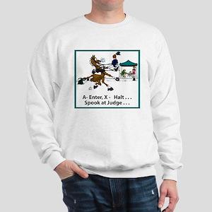 Spook at X Dressage Horse Sweatshirt