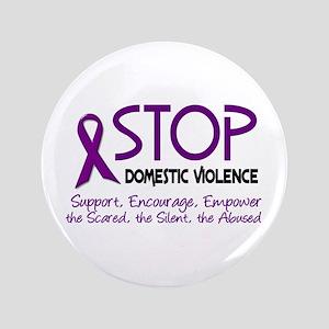 "Stop Domestic Violence 2 3.5"" Button"
