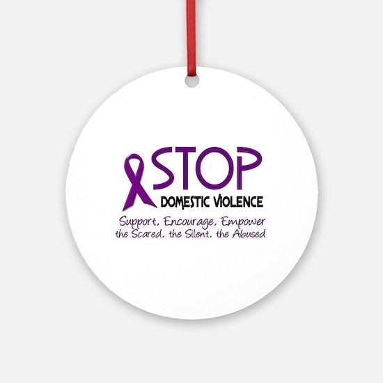 Stop Domestic Violence 2 Ornament (Round)