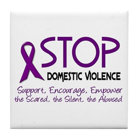Stop Domestic Violence 2 Tile Coaster