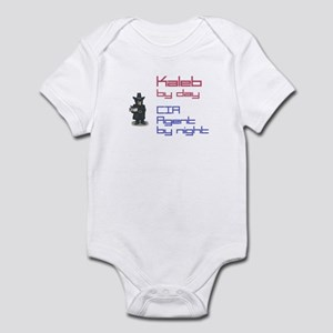 Kaleb - CIA Agent by Night Infant Bodysuit