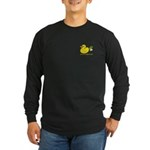 Farting Duck Long Sleeve Dark T-Shirt