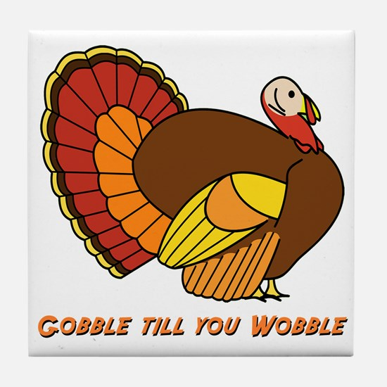 Thanksgiving Gobble Tile Coaster