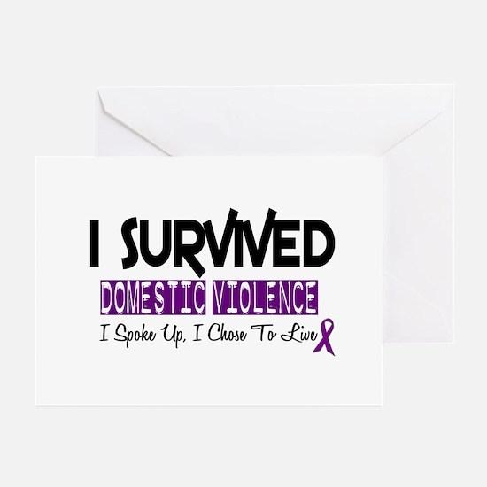 Domestic Violence Survivor 2 Greeting Cards (Pk of
