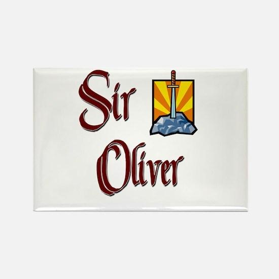 Sir Oliver Rectangle Magnet
