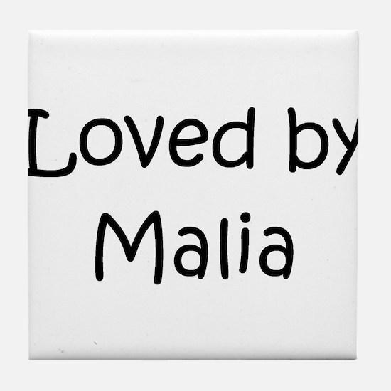 Funny Malia Tile Coaster