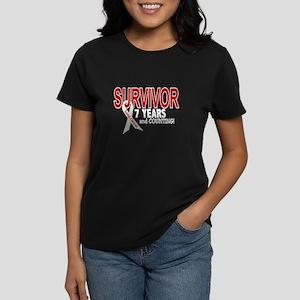 Lung Cancer Survivor 7 Years 1 Women's Dark T-Shir
